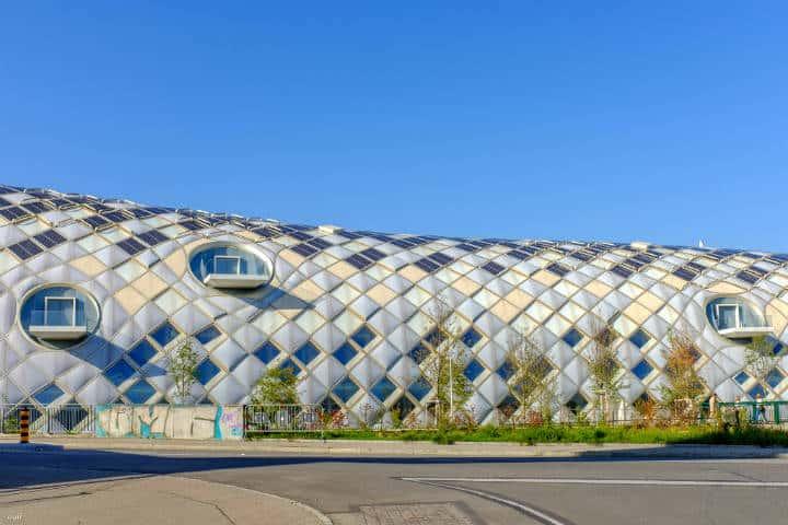 Edificio de Swatch en Bienne,Suiza Foto Alexandre Gilgen