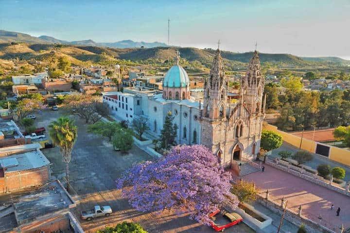 Santuario de la Virgen de Guadalupe. Foto Calvillo Pueblo Magico