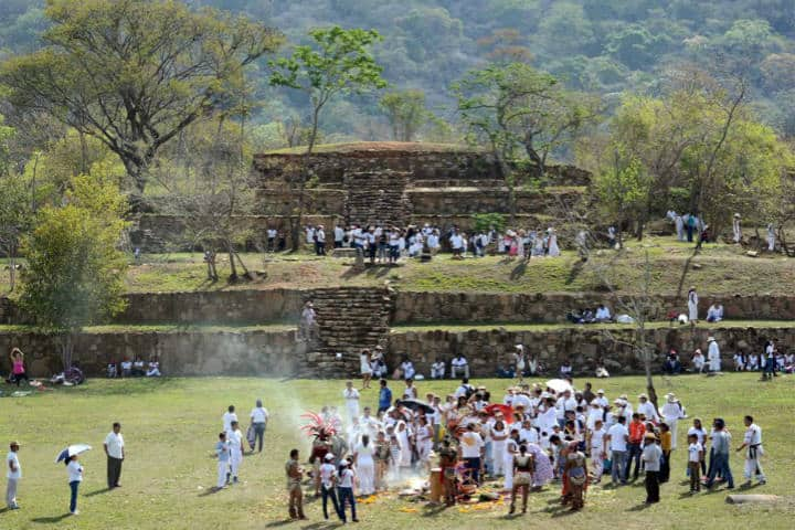 zona arqueológica de Tehuacalco Guerrero. Foto El sur de Acapulco