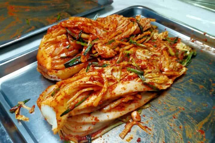 Kimchi cocinar con familia coreana 38