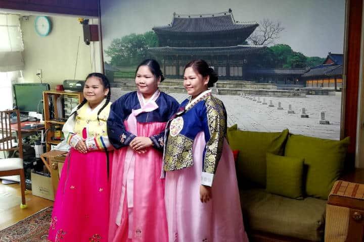 Kimchi cocinar con familia coreana 46