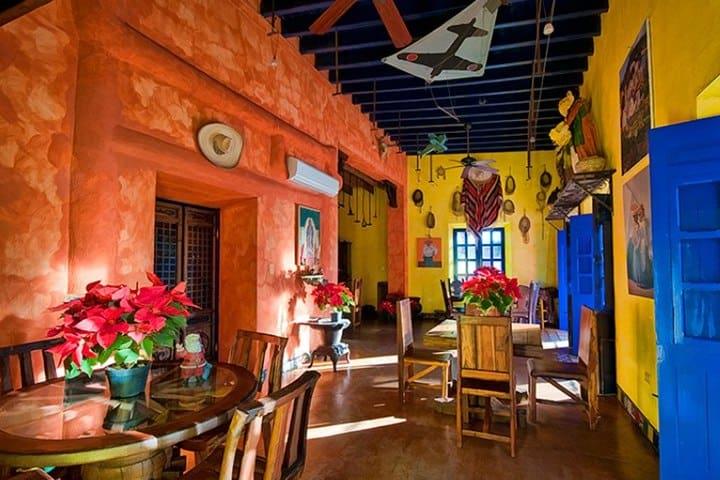 Restaurante. Foto Posada Río Sonora.