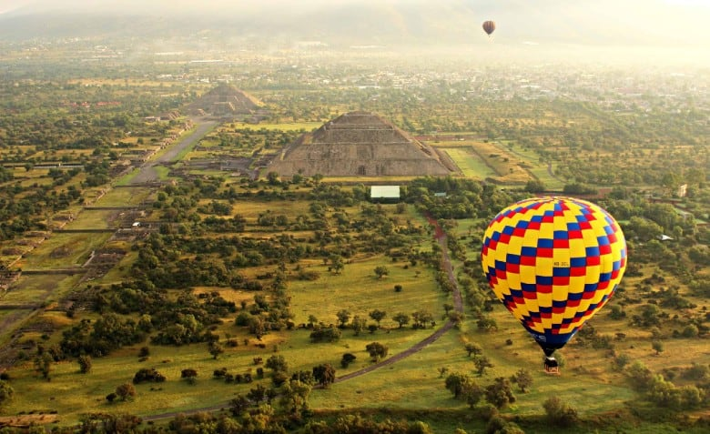 Globos Teotihuacán. Foto: globosteeotihuacán.