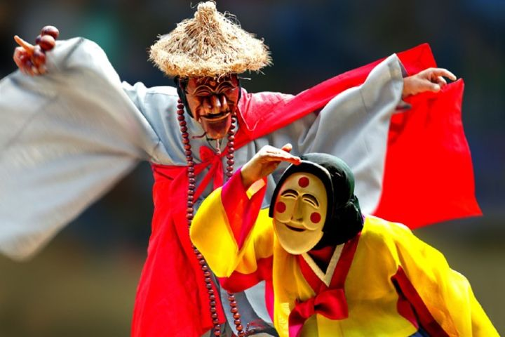 Korea.net foto: Máscaras Coreanas