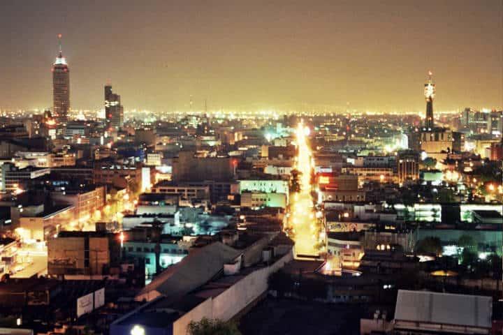 Ciudad de México de noche. Foto Fernando Tomás