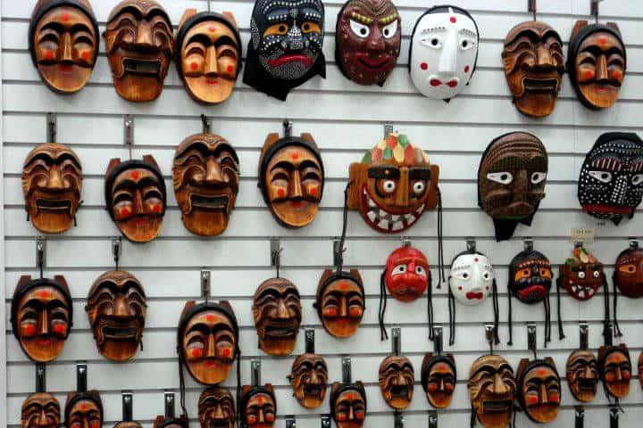 Máscaras coreanas Foto Desde Corea