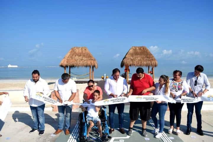Playa incluyente de Yucatán Foto Al momento