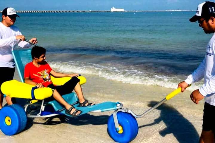 Playa incluyente de Yucatán Foto W radio