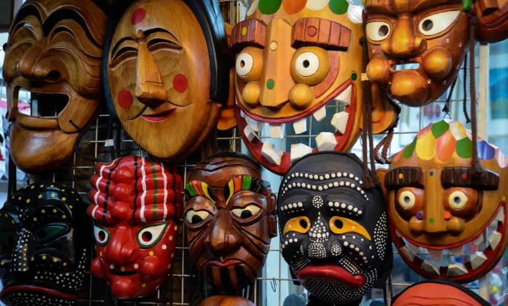 Máscaras coreanas Foto Joshua Damasio