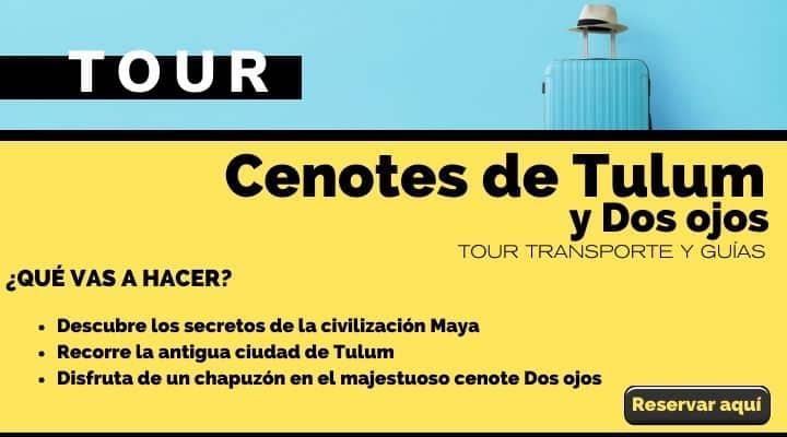 Tour Cenotes de Tulum y Dos Ojos