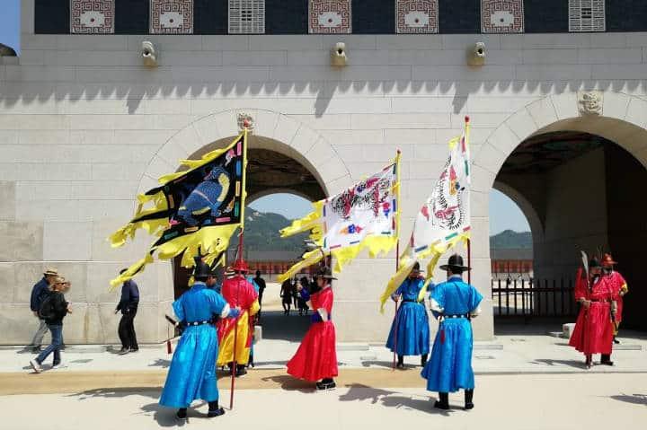 Palacio Gyeongbokgun Cambio de Guardia Foto El Souvenir