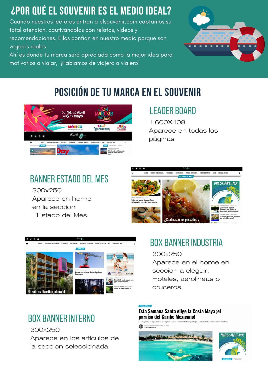 Publicidad en revista de Turismo digital El Souvenir 2