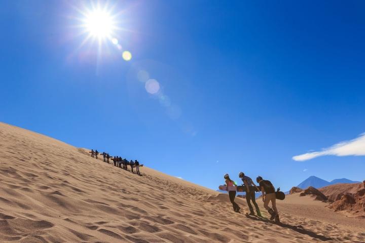 Sandboard en desierto de atacama. Foto_ San pedro de Atacama