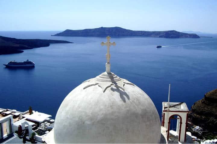 Santorini la isla griega Foto David Fowler