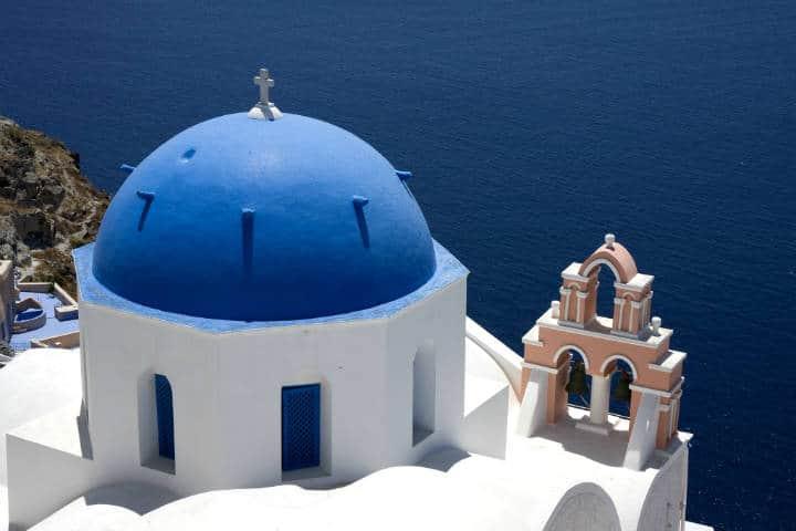 Santorini la isla griega Foto Edward Dalmulder