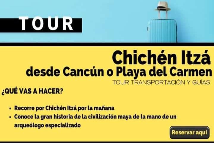 Tour desde Cancún o la Riviera Maya hasta Chichén Itzá. Arte El Souvenir.