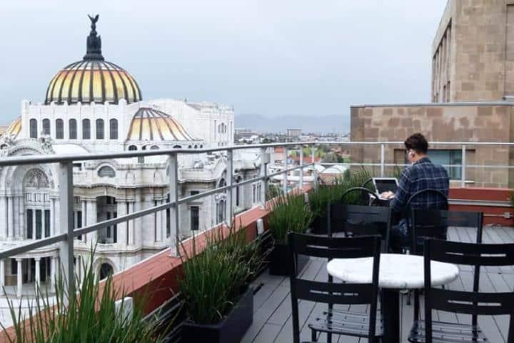 Café de la gran ciudad. Foto Café de la gran ciudad
