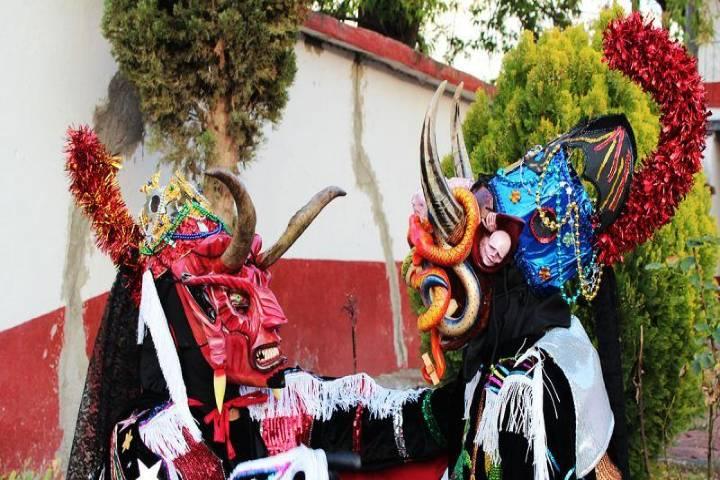 Carnaval 2020 de la región purépecha. Foto Zocalofolkart.