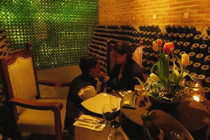Cena romántica. Foto Finca Sala Vivé by Freixenet
