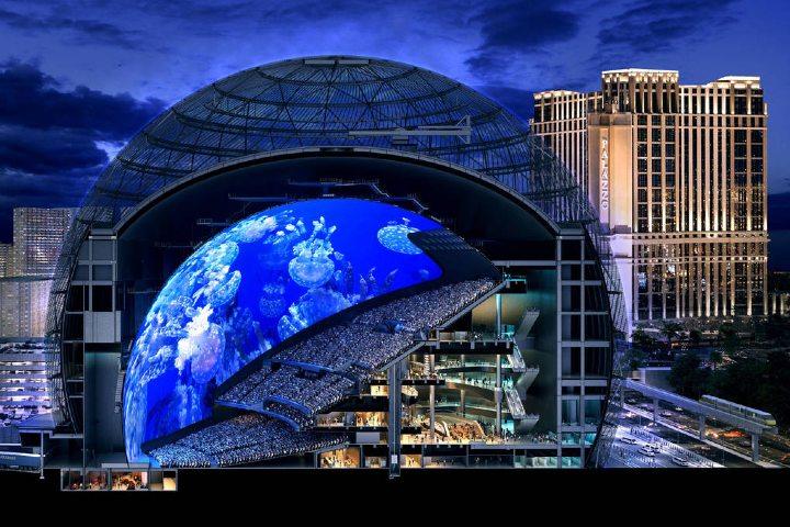 El MSG Sphere Las Vegas. Foto_ El tiempo de Las Vegas