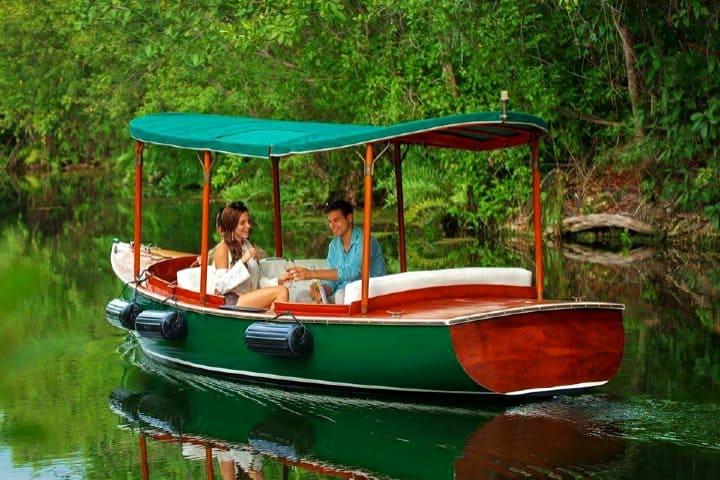 Paseo en bote. Fairmont Mayakoba, Riviera Maya.