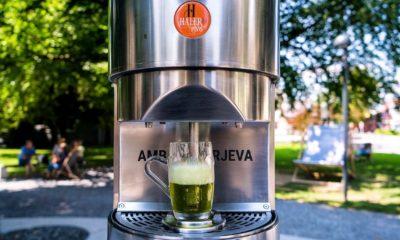 Fuente de cerveza en Eslovenia. Foto Wander The Map