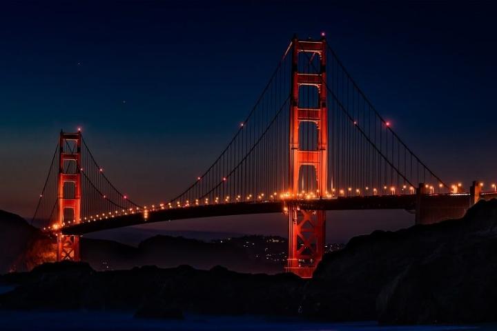 Golden Gate de Noche. Foto_ Bon Voyage mx