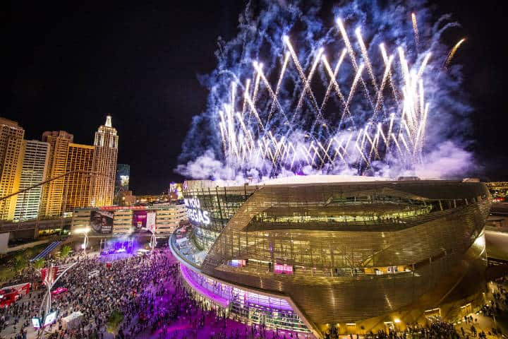 T Mobile Fireworks Foto Visit Las Vegas