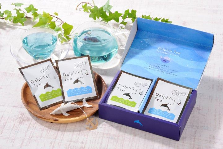 Ocean Teabag Foto: Bolsa de té con figura de delfín