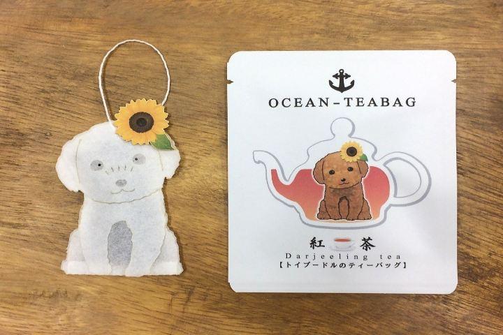 Ocean Teabag Foto: Bolsa de Té perrito