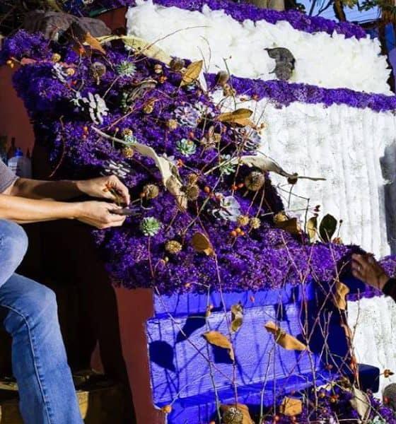 Acomodo de flores Foto: Festival FYJA Facebook