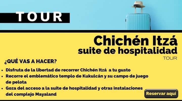 Tour Chichén Itzá, ticket de entrada con suite de hospitalidad. Arte El Souvenir