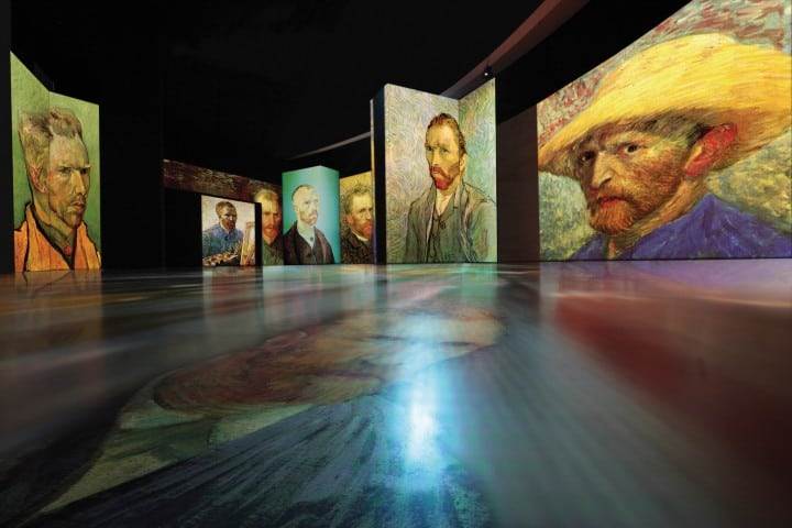 Autorretratos Foto: Van Gogh Alive The Experience