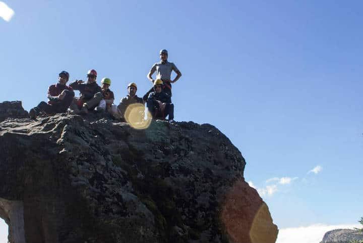 Cima de la montaña Los Dinamos Foto: Archivo