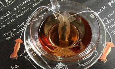 Figura de calamar en té Foto: Archivo