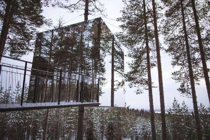 Hoteles extraños alrededor del mundo. Foto.Treehotel