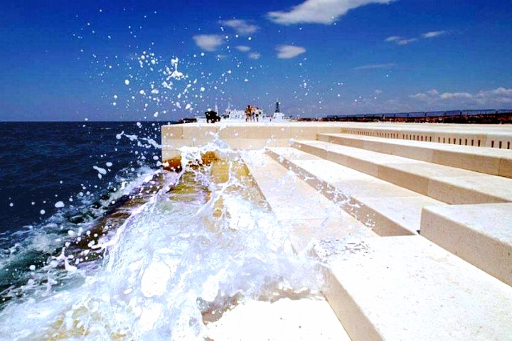Órgano de mar en Croacia.