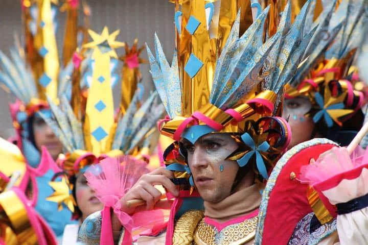 Participante del carnaval Foto: Alberto Martín