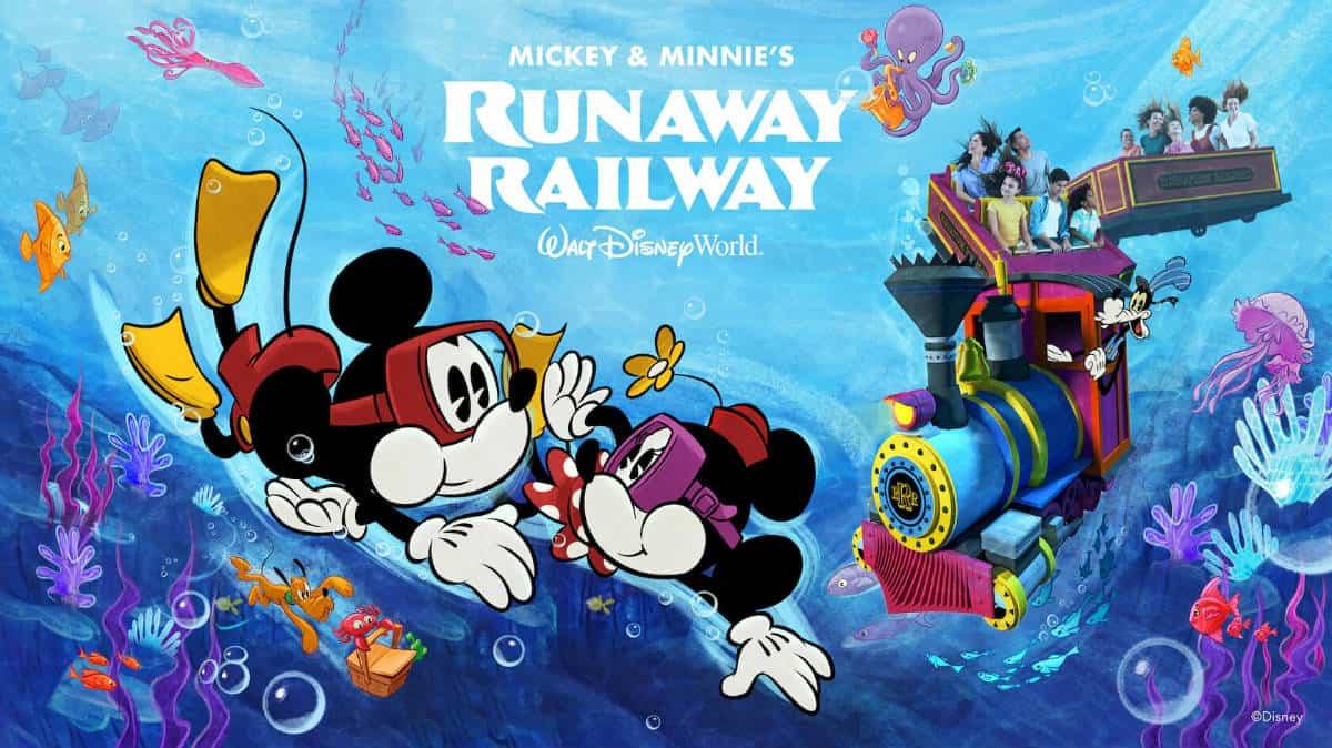 Portada. Mickey & Minnie's Runaway Railway. E.E.U.U. Imagen Walt Disney World