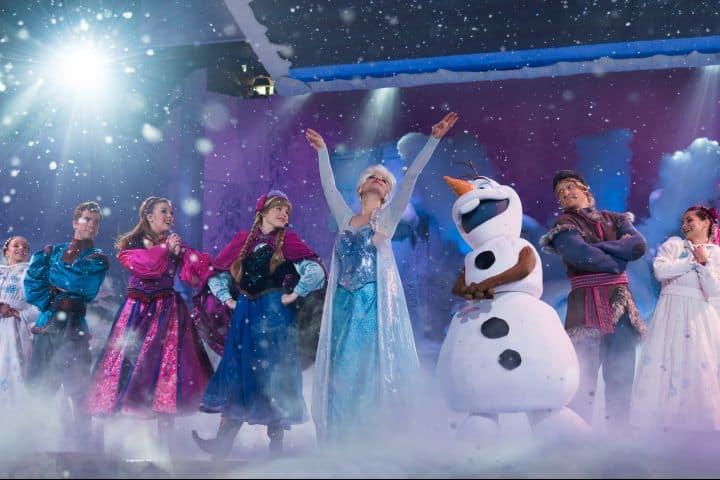 Show de Frozen. Foto Artifakts