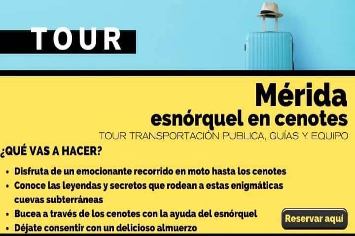 Tour Mérida, esnórquel en cenotes con comida familiar. Arte El Souvenir