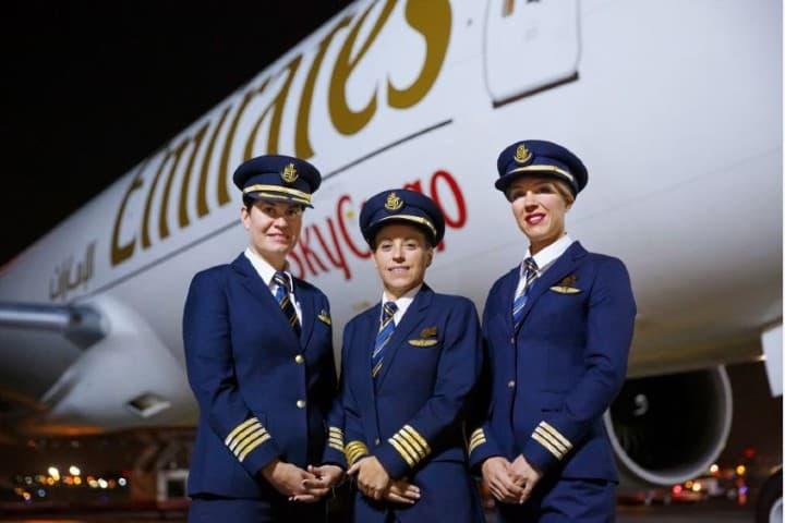 Tripulación de mujeres Foto: Emirates Airlines