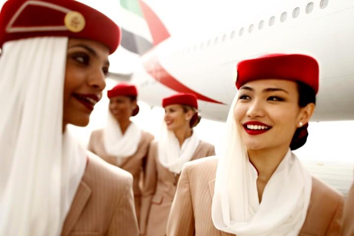 Tripulación femenina en Emirates