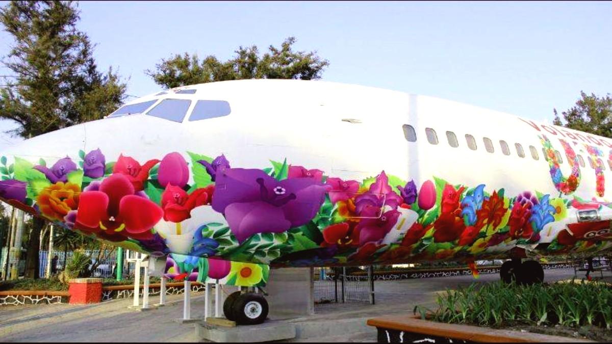 Utopía biblioteca en forma de avión. Foto: Esther Asencio