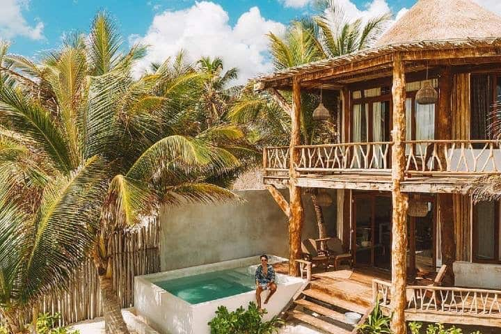 Hoteles pet friendly en la Rivera Maya. Cabañas de Casa Ganesh Tulum Foto: Casa Ganesh Tulum