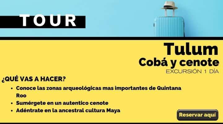 Tour Tulum, Cobá y cenote