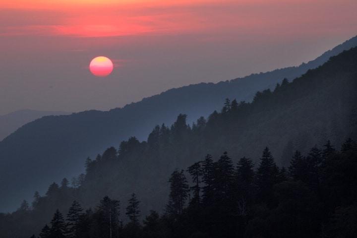 Atardecer en Parque Nacional de las Montañas Humeantes Foto Klaus Lang