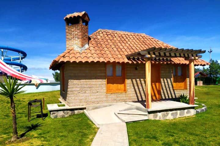 Cabaña en donde puedes quedarte a dormir Foto Parque Acuatico Santa Ana