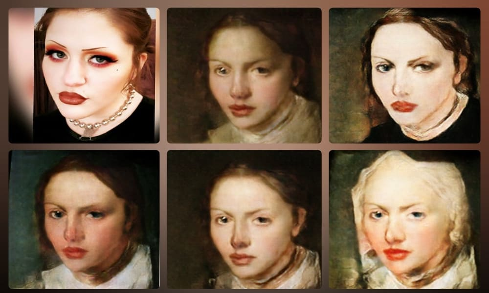 Convierte tu rostro en arte Foto @deepfak3D Twitter