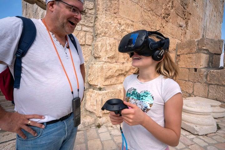 Disfrutando de Jerusalén en realidad virtual Foto Nimrod Shanit Holy